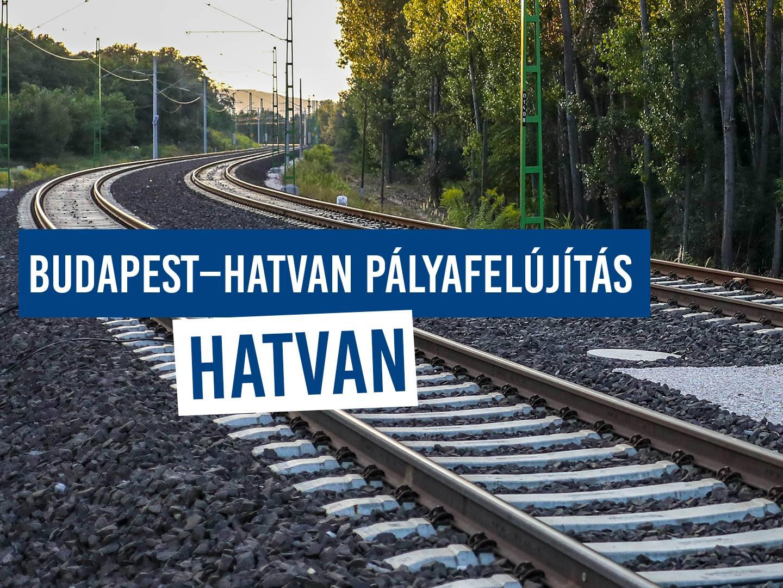 Budapest-Hatvan vasútvonal felújítás – vonatpótló busz