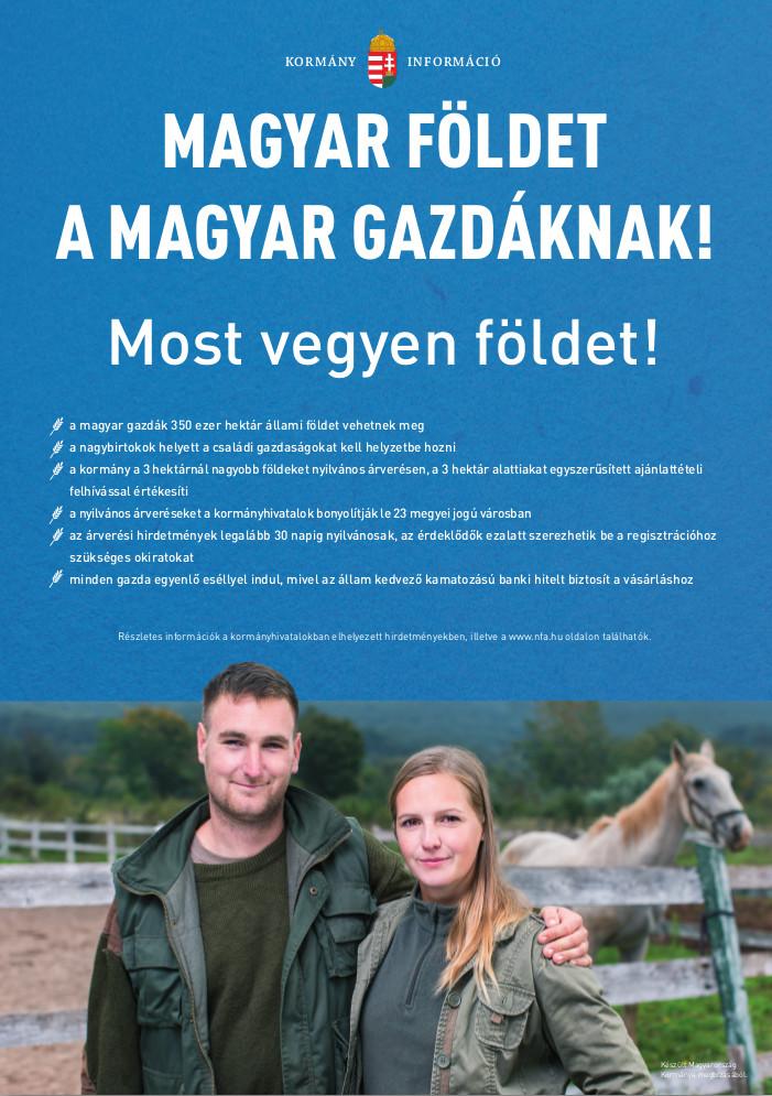 Magyar földet a magyar gazdáknak!